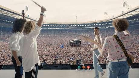 O filme recria o show do Live Aid, em 1985.
