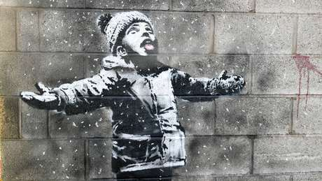 Banksy confirmou a autoria do mural no País de Gales