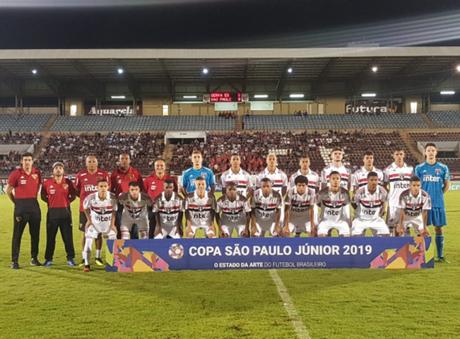 São Paulo está garantido na segunda fase da Copa São Paulo de Futebol Júnior (Reprodução/Twitter)
