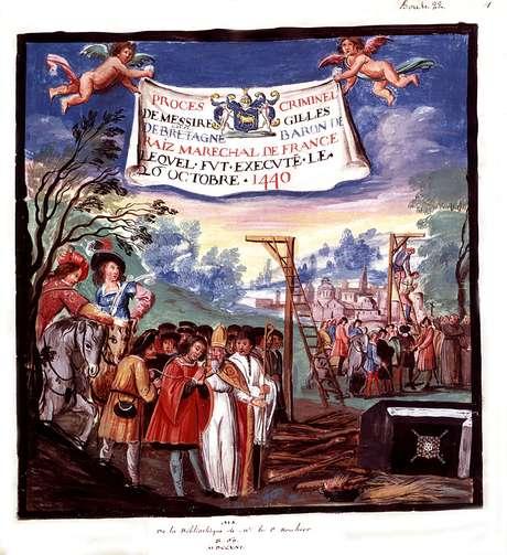 Execução de Gilles de Rais, em 1440