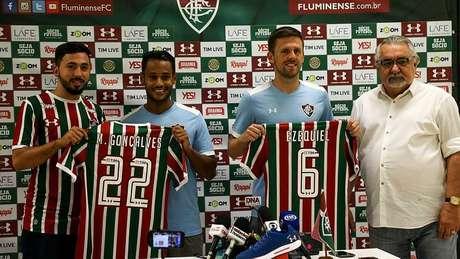 Matheus Gonçalves e Ezequiel são apresentados no Fluminense