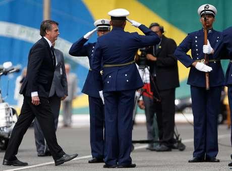 Presidente Jair Bolsonaro durante evento da Força Aérea em Brasília 04/01/2019 REUTERS/Adriano Machado