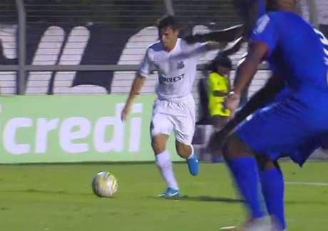 Santos perde para o São Caetano de virada, nesta segunda-feira (Foto: Reprodução/TV)