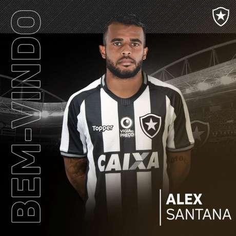 Alex Santana é o quinto reforço do Botafogo (Foto: Reprodução/Twitter)