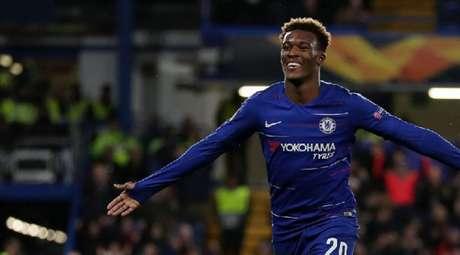 Hudson-Odoi é um dos bons valores do Chelsea (Foto: AFP)