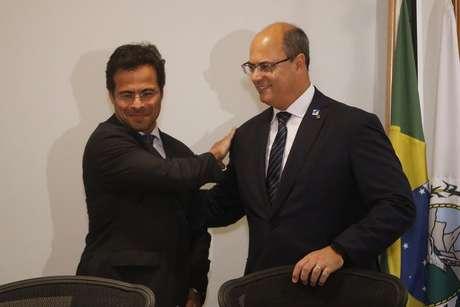 O procurador-geral do Rio, Marcelo Lopes da Silva, e o governador Wilson Witzel