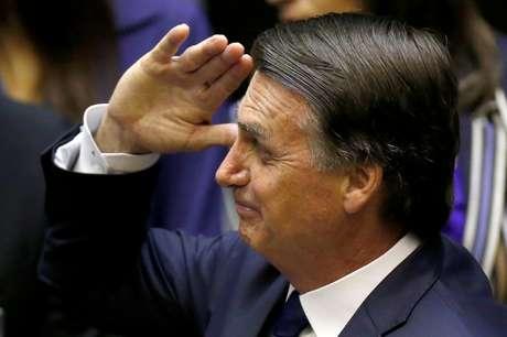 Jair Bolsonaro durante a posse no Congresso Nacional, em Brasilia. 1/1/2019. REUTERS/Adriano Machado