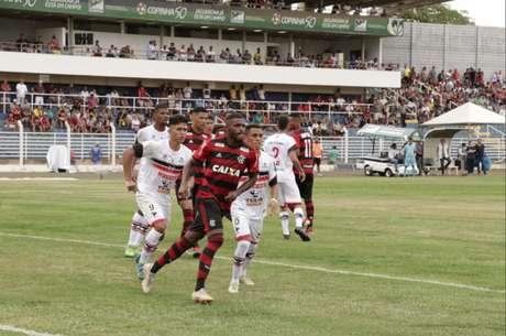 Flamengo venceu o River-PI e perdeu para o Trindade-GO nas rodadas iniciais da Copinha (Reprodução Twitter)