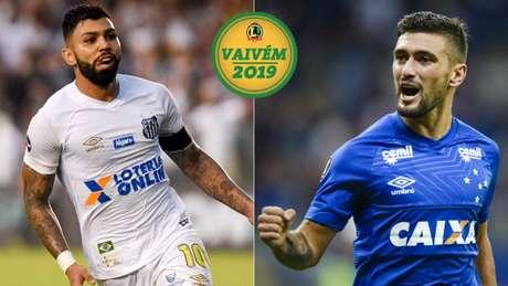 Destaques de Santos e Cruzeiro em 2018, Gabigol e Arrascaeta reforçam o Flamengo neste ano (Foto: Divulgação)