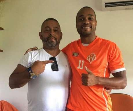 Zagueiro Marcão já vestiu a camisa doSport Club Atibaia (Foto: Divulgação)