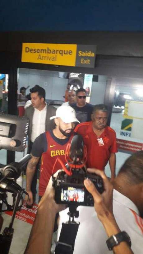 Gabriel Barbosa, o Gabigol, já está no Rio de Janeiro e reforçará o Flamengo em 2019 (Foto: Alexandre Araújo)