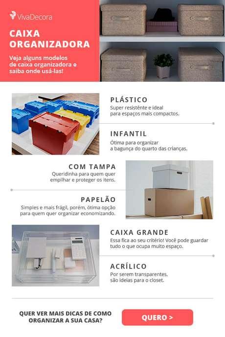Infográfico – Caixa organizadora