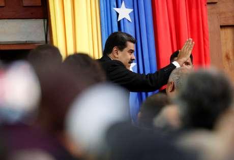 Presidente da Venezuela, Nicolás Maduro, durante cerimônia de posse em Caracas 10/01/2019 REUTERS/Carlos Garcia Rawlins