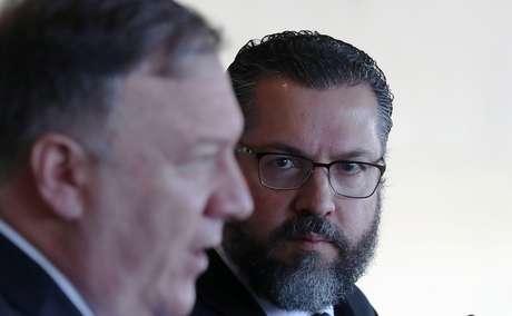 Chanceler Ernesto Araújo se reúne com secretário de Estado dos EUA, Mike Pompeo 02/01/2019 REUTERS/Ricardo Moraes