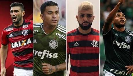 Flamengo e Palmeiras brigaram pelo título brasileiro nos últimos anos (Montagem/LANCE!Press)