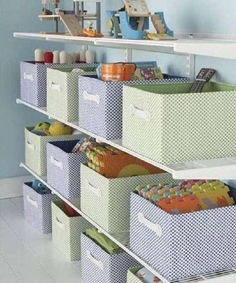 12. A caixa organizadora infantil também serve para decorar o quarto – Foto: Muebles cómodos