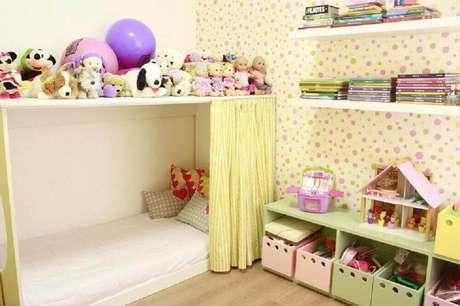 30. Utilize a caixa organizadora infantil para incrementar a decoração do quarto das crianças – Foto: Mutabile Arquitetura