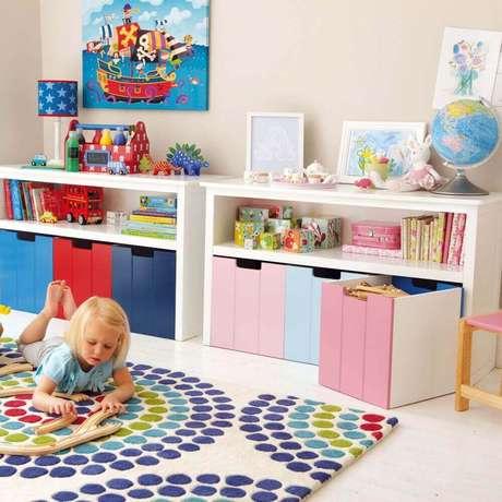 6. A caixa organizadora grande é uma excelente opção para guardar brinquedos – Foto: Luxry Sale