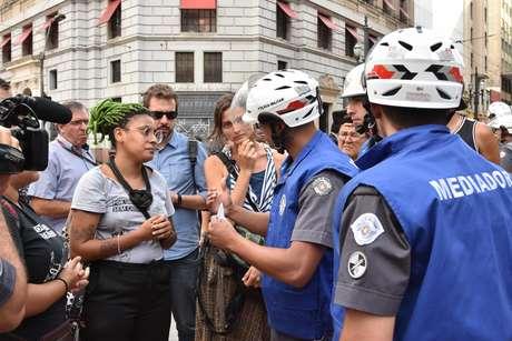 Manifestação organizado pelo MPL, contra o aumento do valor das tarifas dos transportes públicos em São Paulo, nesta quinta feira (10).