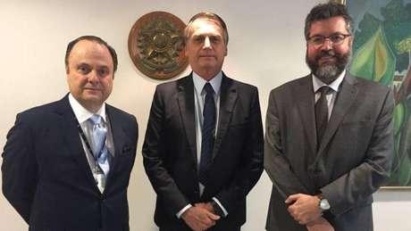 Mário Vilalva, Jair Bolsonaro e Ernesto Araújo