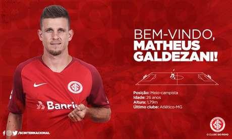 Matheus Galdezani assina por uma temporada com o Inter