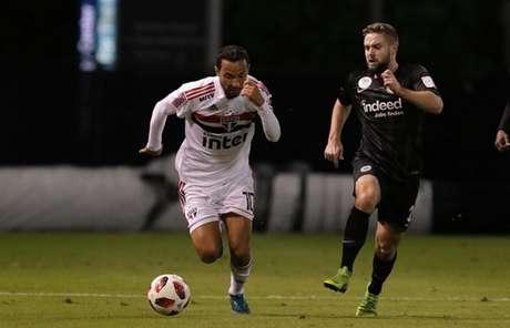 Nenê foi um dos destaques positivos do Tricolor em sua estreia na temporada 2019 (Rubens Chiri/saopaulofc.net)