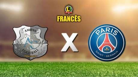 Amiens e PSG duelam neste sábado, às 14h (Brasília) (Arte: LANCE!)