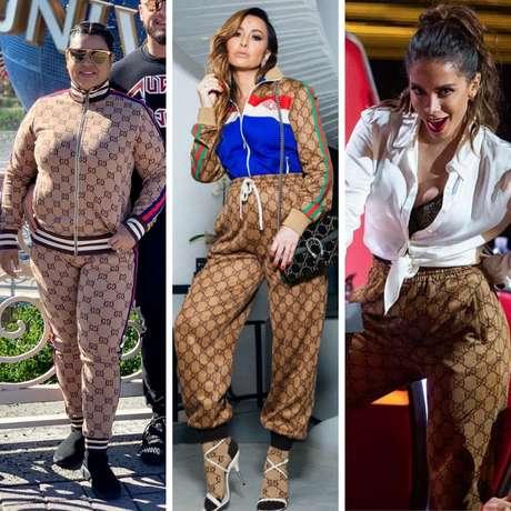 Preta Gil, Sabrina Sato e Anitta vestem calça igual (Fotos: Instagram/Reprodução)