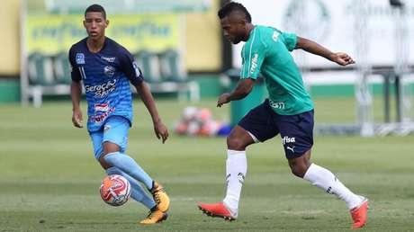 Miguel Borja marcou o gol do Palmeiras na vitória sobre o Comercial, de Ribeirão Preto.