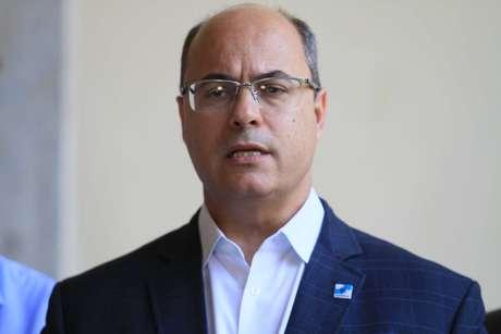 O governador Wilson Witzel concede coletiva de imprensa após se reunir com secretariado no Palácio Guanabara no Rio de Janeiro (RJ), neste sábado (12/01/2019)