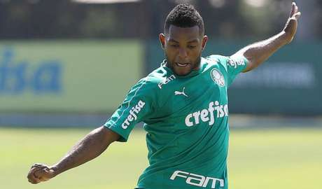 Borja fez o único gol do primeiro jogo-treino do Palmeiras nesta pré-temporada (Agência Palmeiras/Divulgação)