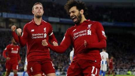 Salah foi o cara que marcou o gol da partida (Foto: Premier League)