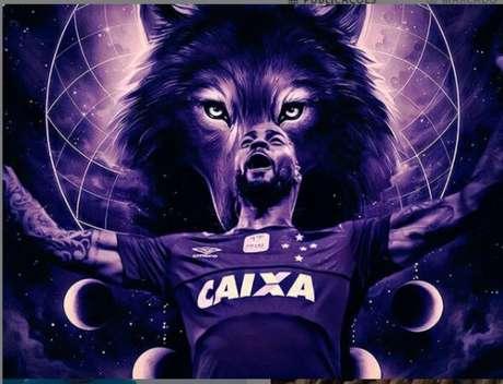 Dedé também postou uma imagem com uma Raposa, simbolizando sua forte relação com o Cruzeiro-Reprodução