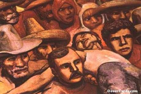 Uma vitima da repressão (David A. Siqueiros, detalhe de mural)