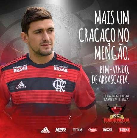 Arrascaeta é o novo reforço do Flamengo (Foto: Divulgação/Flamengo)