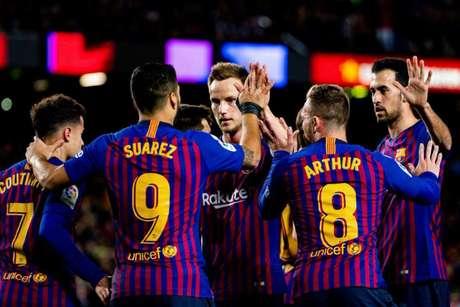 Suárez foi um dos destaques da partida deste domingo contra o Eibar, marcando dois gols (Divulgação)