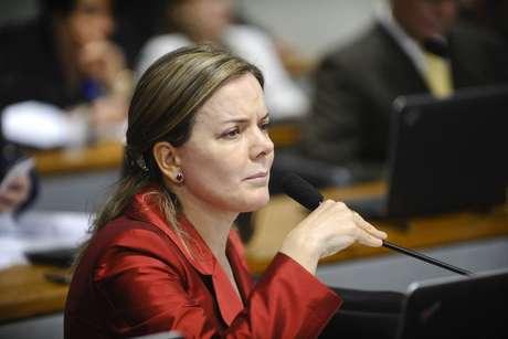 Presidente do PT, a senadora Gleisi Hoffmann