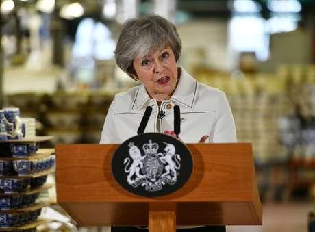 Premiê britânica, Theresa May 14/01/2019 Ben Birchall/Pool via REUTERS