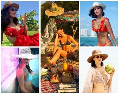 Famosas com chapéu de palha (Fotos: AgNews/Reprodução/Instagram)