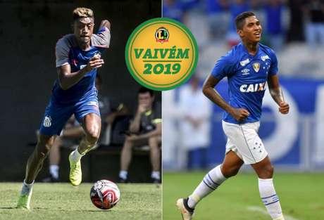Para ter Bruno Henrique, Cruzeiro está disposto a ceder atacante Raniel (Fotos: Ivan Storti/Santos e Divulgação)