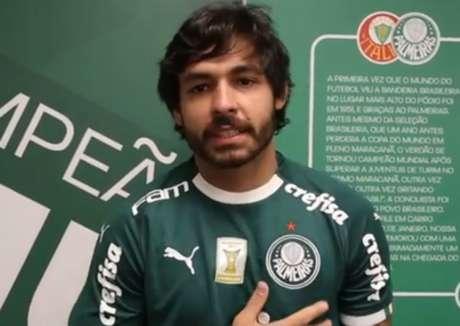 Ricardo Goulart foi emprestado pelo Guangzhou Evergrande, da China, até o final do ano (Reprodução/TV Palmeiras)