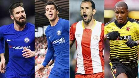 Giroud, Morata, Stuani ou Ighalo podem pintar no Barça (Foto: Divulgação)