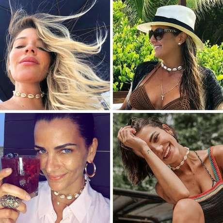 Famosas apostam em choker de búzios (Fotos: Instagram/Reprodução)