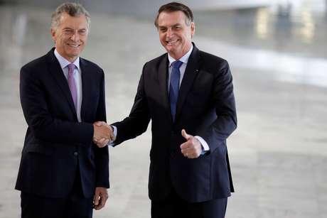 Presidente Jair Bolsonaro recebe presidente argentino, Mauricio Macri, em Brasília, em janeiro