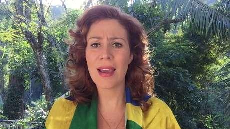 A deputada federal eleita Carla Zambelli (PSL-SP), em setembro de 2017