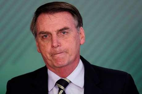 Bolsonaro, durante evento no Palácio do Planalto 15/1/2019 REUTERS/Ueslei Marcelino