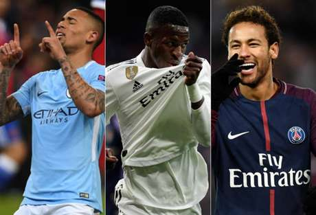 Gabriel Jesus, Vinícius Júnior e Neymar são alguns dos personagens da rodada (Foto: AFP)