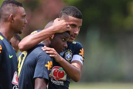 Lincoln, do Flamengo, marcou o gol da Seleção no último jogo-treino (Foto: Lucas Figueiredo/CBF)