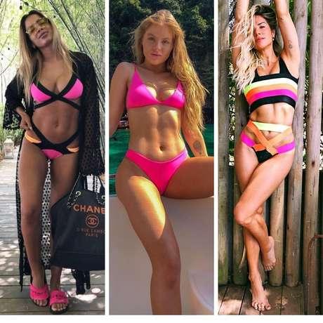 Anitta, Luisa Sonza e Gio Ewbank (Fotos: Reprodução/Instagram)