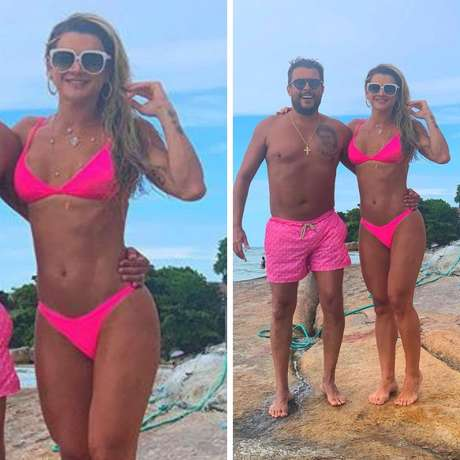 Ceará e Mirella Santos (Fotos: Reprodução/Instagram)